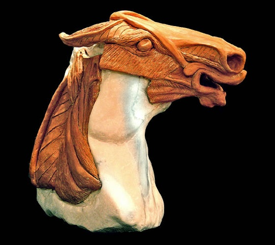 marble ceramic sculpture horse