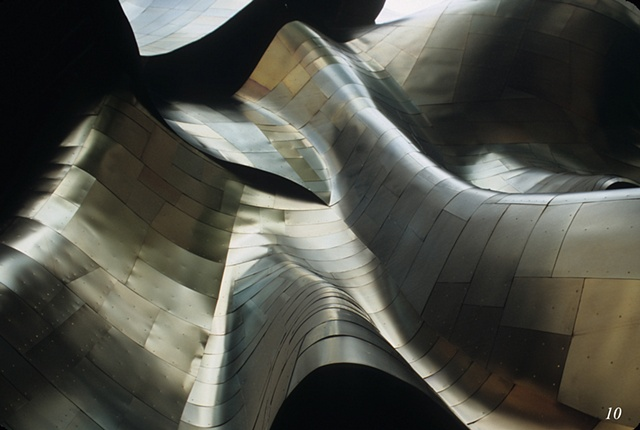 Unconventional architecture at the Experience Music Project, Seattle