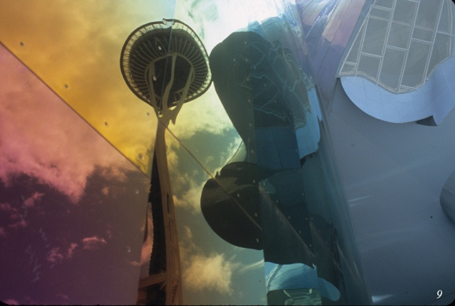 Experience Music Project and the Space Needle, Seattle