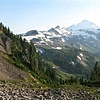 Mt. Baker from Chain Lakes Trail