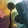 Space Needle Reflection at Experience Music Project, Seattle