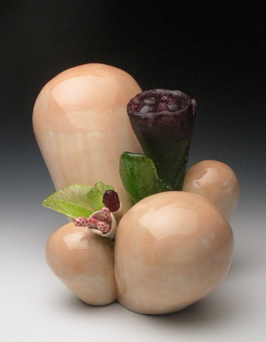 glass ceramic floral biology botanical sculpture clay