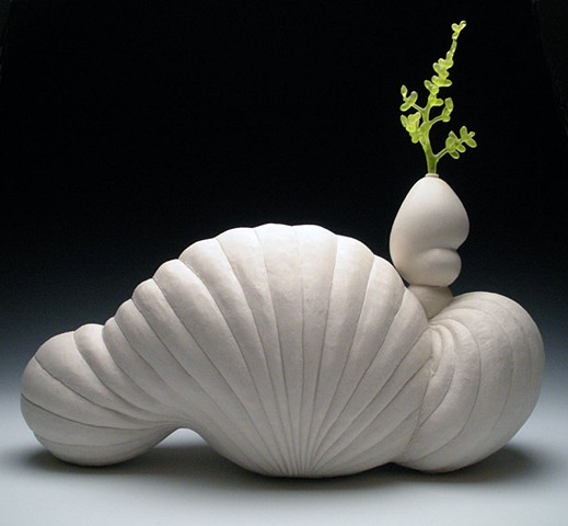 ceramics, cast glass, hanbuilt, botanical, sculpture, organic, clay, porcelain