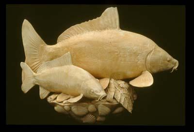 Golden Carp Fountain Centerpiece