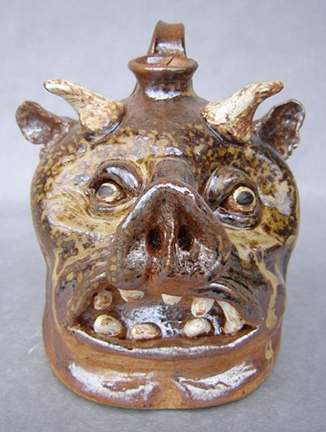 Devil Pig Whiskey Face Jug #6