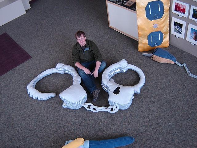 """""""Handcuffs"""" 3-D Design, FVCC Convert Mechanical Object into Soft Sculpture"""