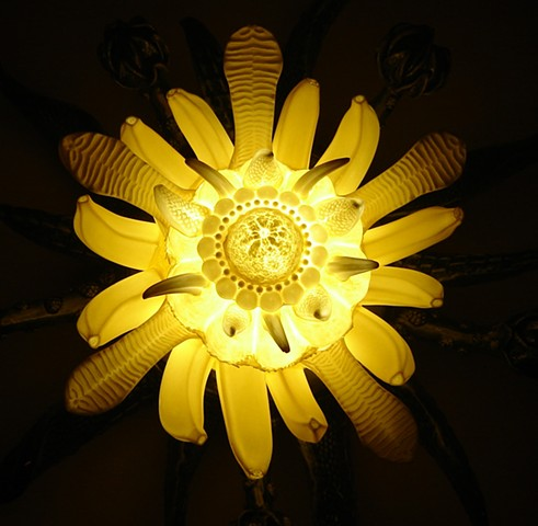 Poison Flower, Feral Bloom (detail of porcelain illuminated)