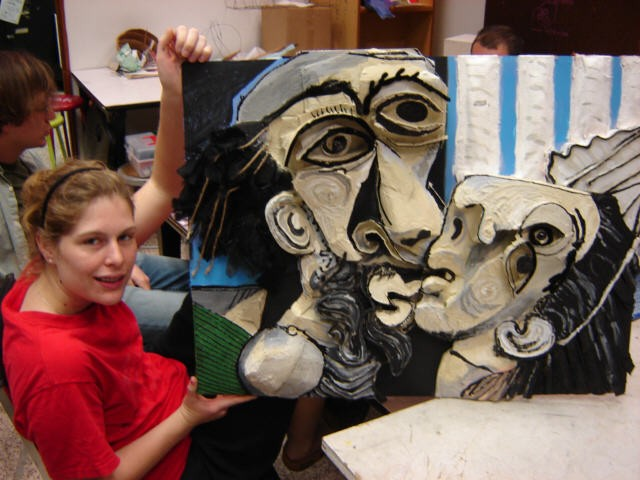 3-D Design, ULL 3-D Relief of famous Cubist Painting