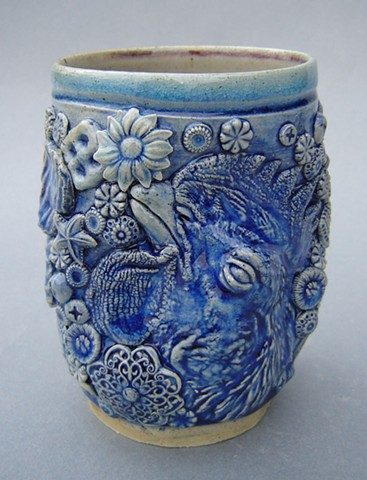 Blue Cup with Rooster and Ointment