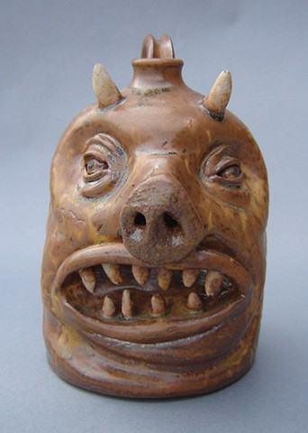 Devil Pig Whiskey Facejug