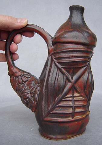 Thrown and Press-molded Vessel