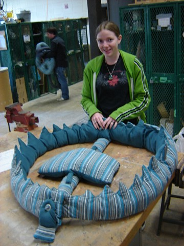 """""""Bear Trap"""" 3-D Design, SLU Convert mechanical object into soft sculpture"""