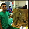 3-D Design UALR, 3-D Relief from Famous Cubist Painting  Process Images
