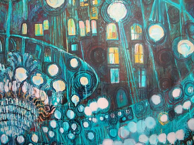 Blue Chandelier