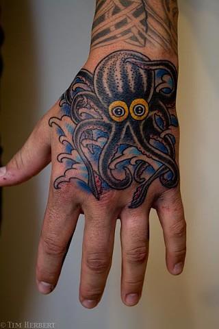 Hand Octopus Tattoo