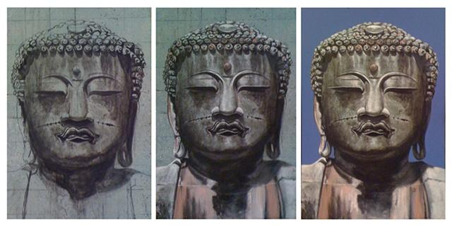 buddha scenic painting