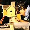 Tinker Building Birdhouse