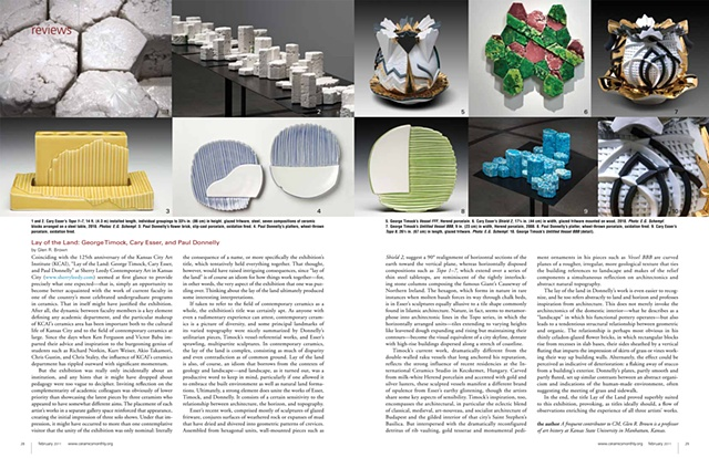 Ceramic Monthly, Review, Lay of the Land, by Glen R Brown