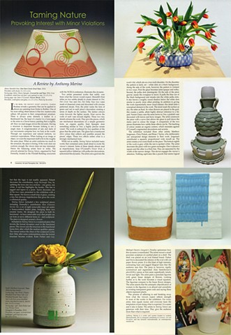 Ceramics Art & Perception, Review, Taming Nature.  By Anthony Marino Issue 100, 2015