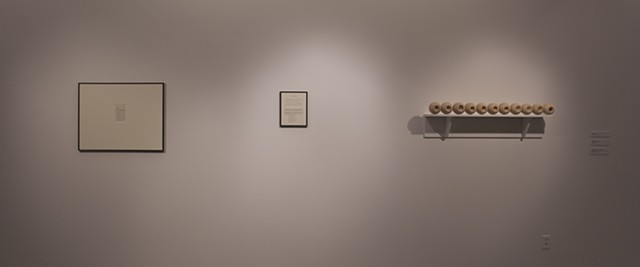 Installation View from Here + There: MAA Thesis Exhibition