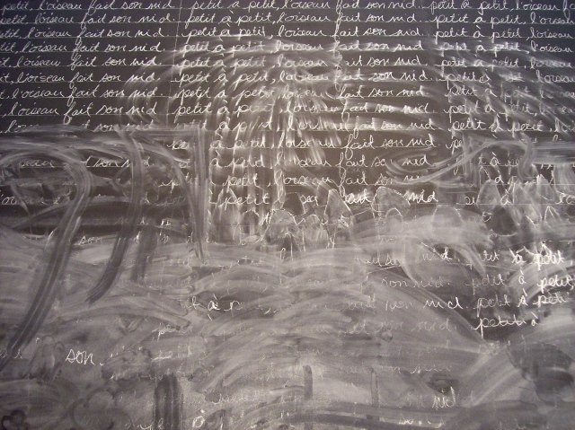 detail, untitled chalk drawing #1