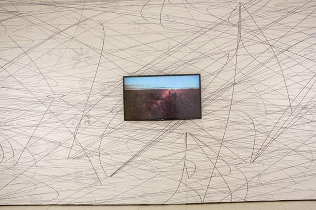Matthew Ritchie, Installation View, Carol Schlosberg Alumni Gallery, Montserrat College of Art