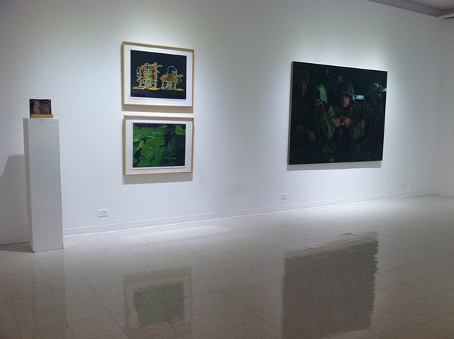 For The Record, installation view (Ristelhueber, Roy, Mumford)