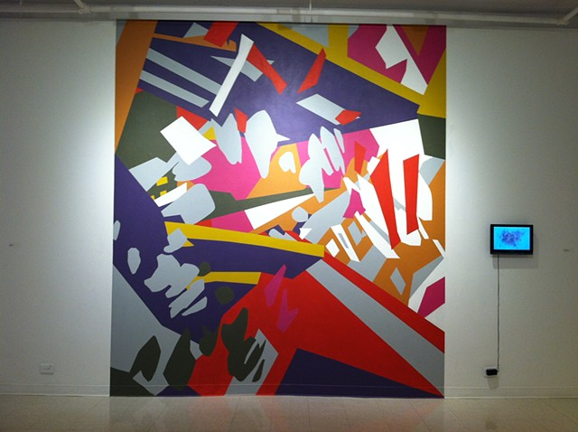Joelle Dietrick, Sherman's Wall, Latex paint on wall, site-specific installation