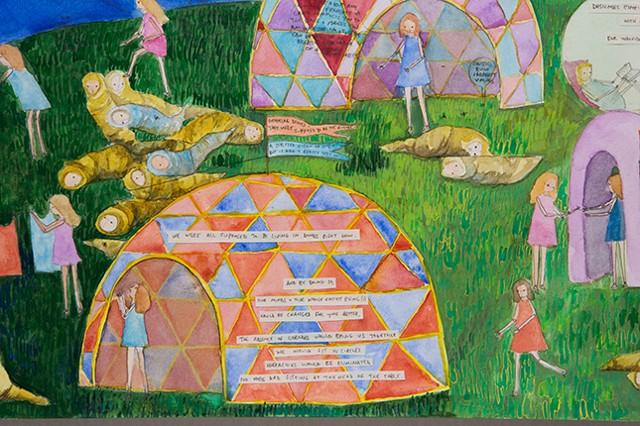Amy Wilson, A Utopian Vision (After Bosch), detail