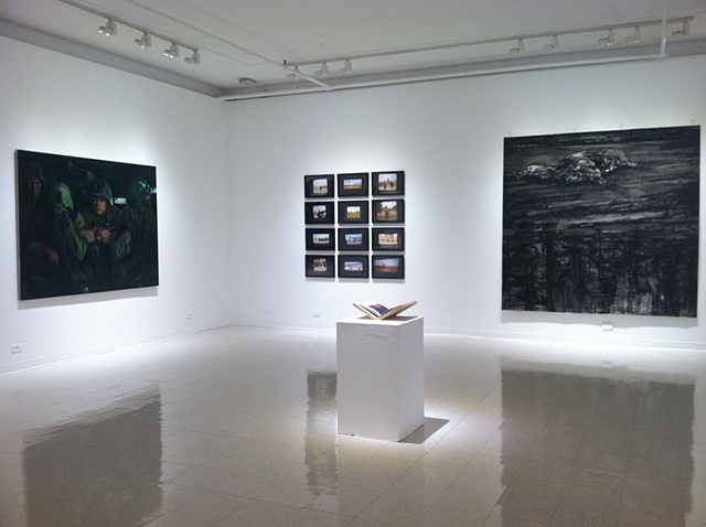 For the Record, installation view (Mumford, Lowy, O'Neil with Ristelhueber in foreground)