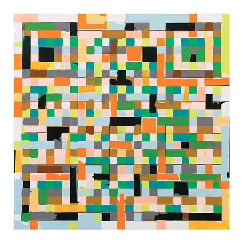 Kyle Trowbridge QR code paintings art