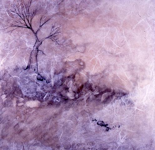 "Encaustic Painting, Rhythms and Passages Series ""Legends"""