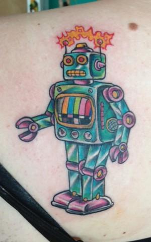 Retro robot.