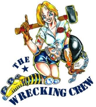 Wrecking Crew Roller Derby logo