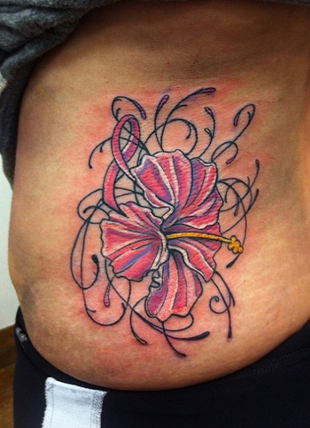 Breast Cancer Ribbon/Flower