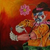 Junkie Clown Painting
