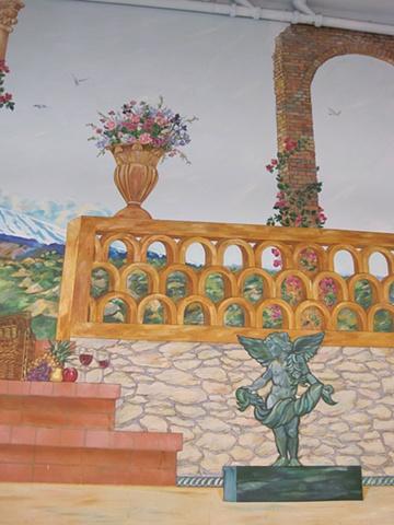 Rainbow Wash Mural