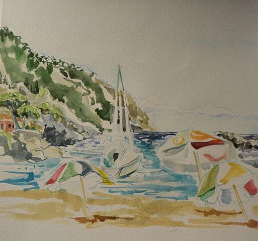Beach at Sestri Levante