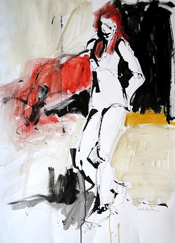 Figurative Abstract Artist. contemporary. Abstract figurative painting. Vibrant.