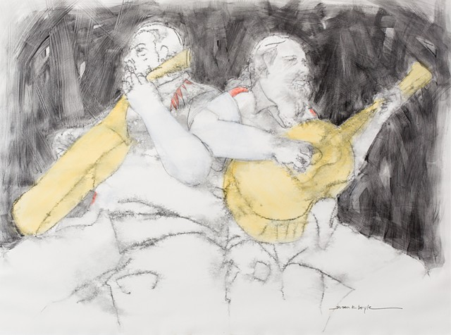 American figurative art, contemporary figurative art, Figurative art, abstract figurative art, figurative abstract art, Guitar, musicians, contemporary, figurative, abstract, expressionism