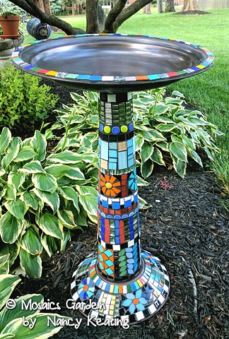 Funky Bird Bath SOLD
