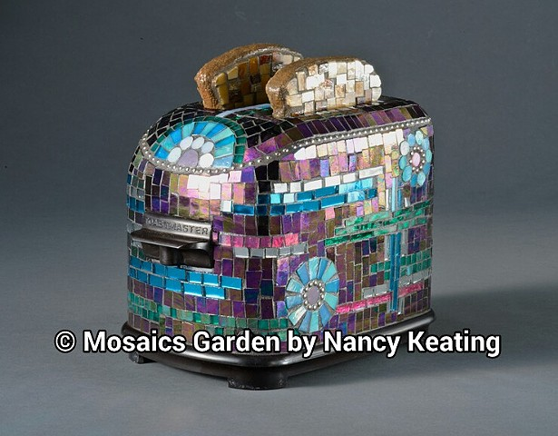 "mosaic-ed vintage toaster with glass mosaic ""toast"""