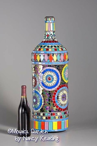 Mosaic Mega Magnum Wine Bottle