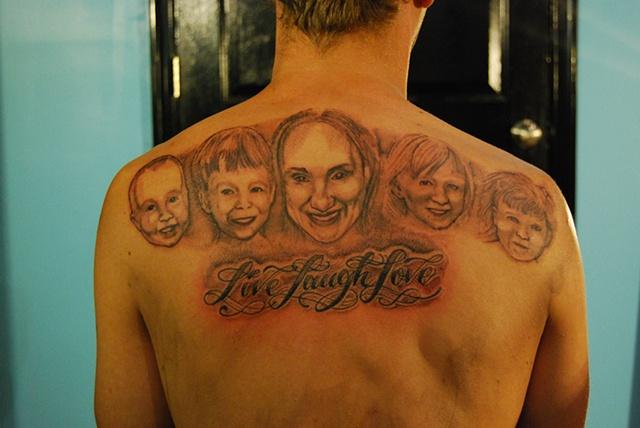 david zobel tattoo artist waynes family portrait. Black Bedroom Furniture Sets. Home Design Ideas