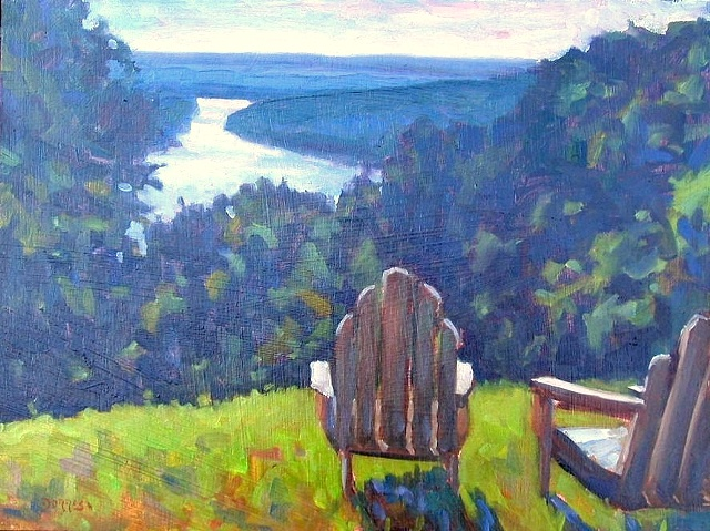 Adirondack Chairs 12x16 (sold)