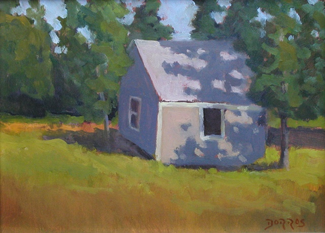 Monhegan Cottage 9x12