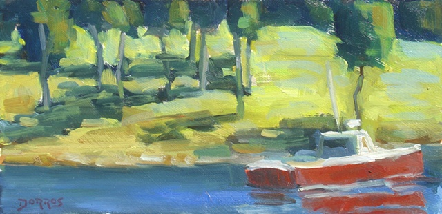 Lobster Boat 6x12