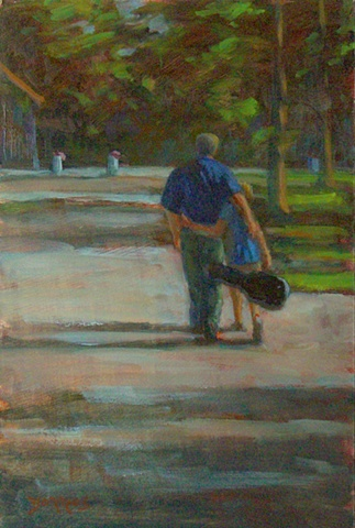 Father and Son 12x8 (sold)