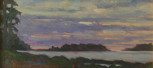 Lavendar Maine Morning 6x12 (sold)
