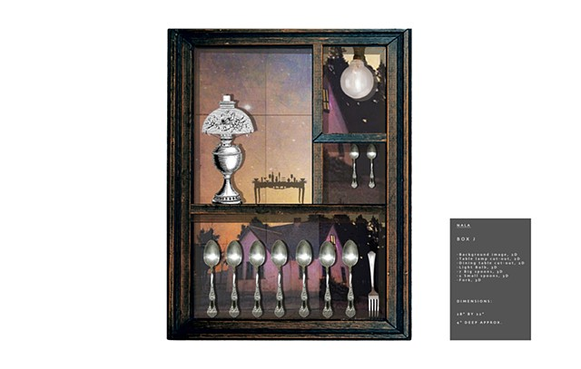 design of shadow boxes, Photoshop